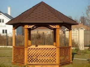 Строительство деревянной беседки на даче