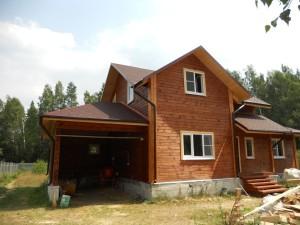 Дома из профилированного бруса с гаражом